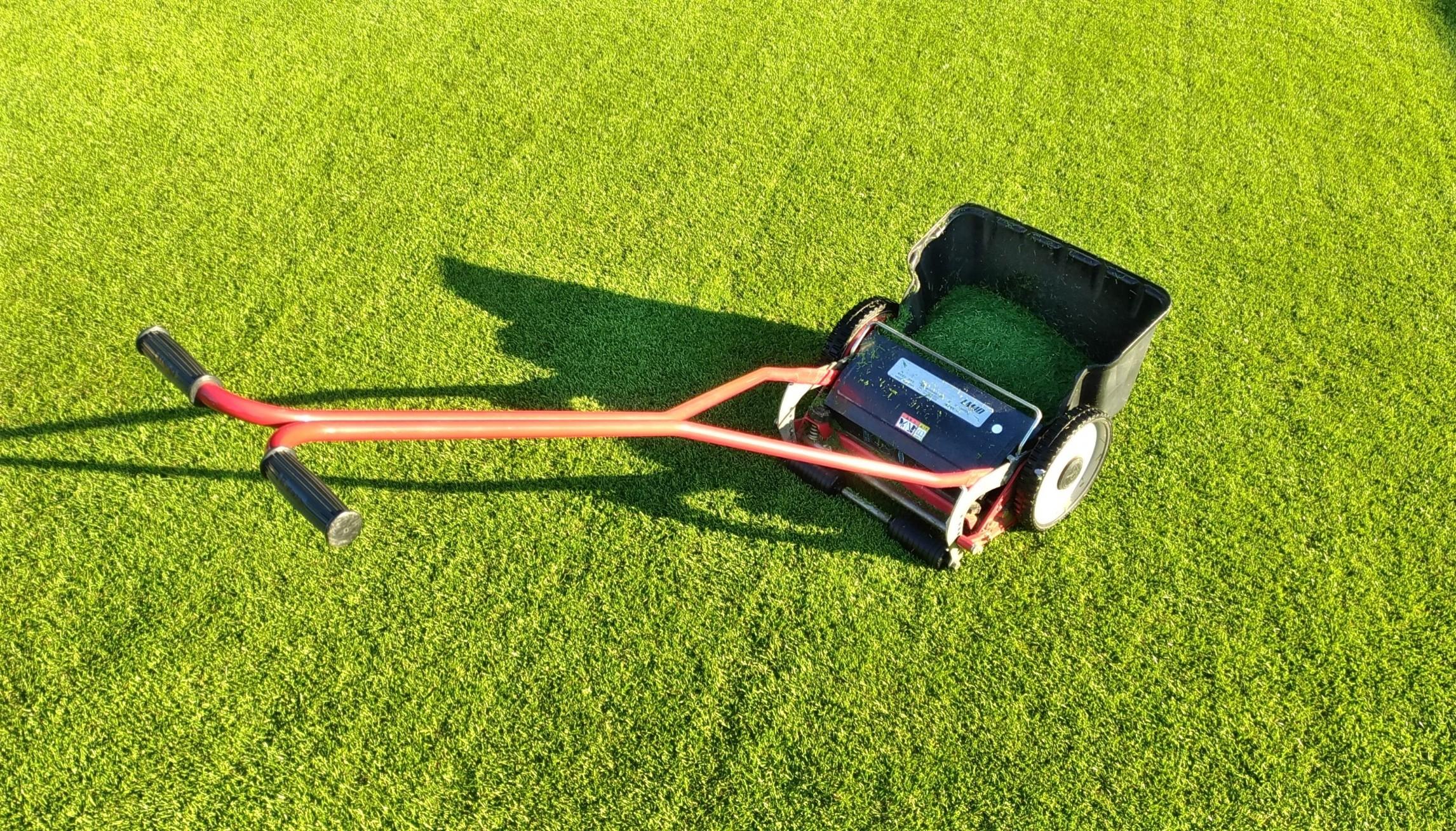 早朝の芝刈りは気持ちいい😃✨