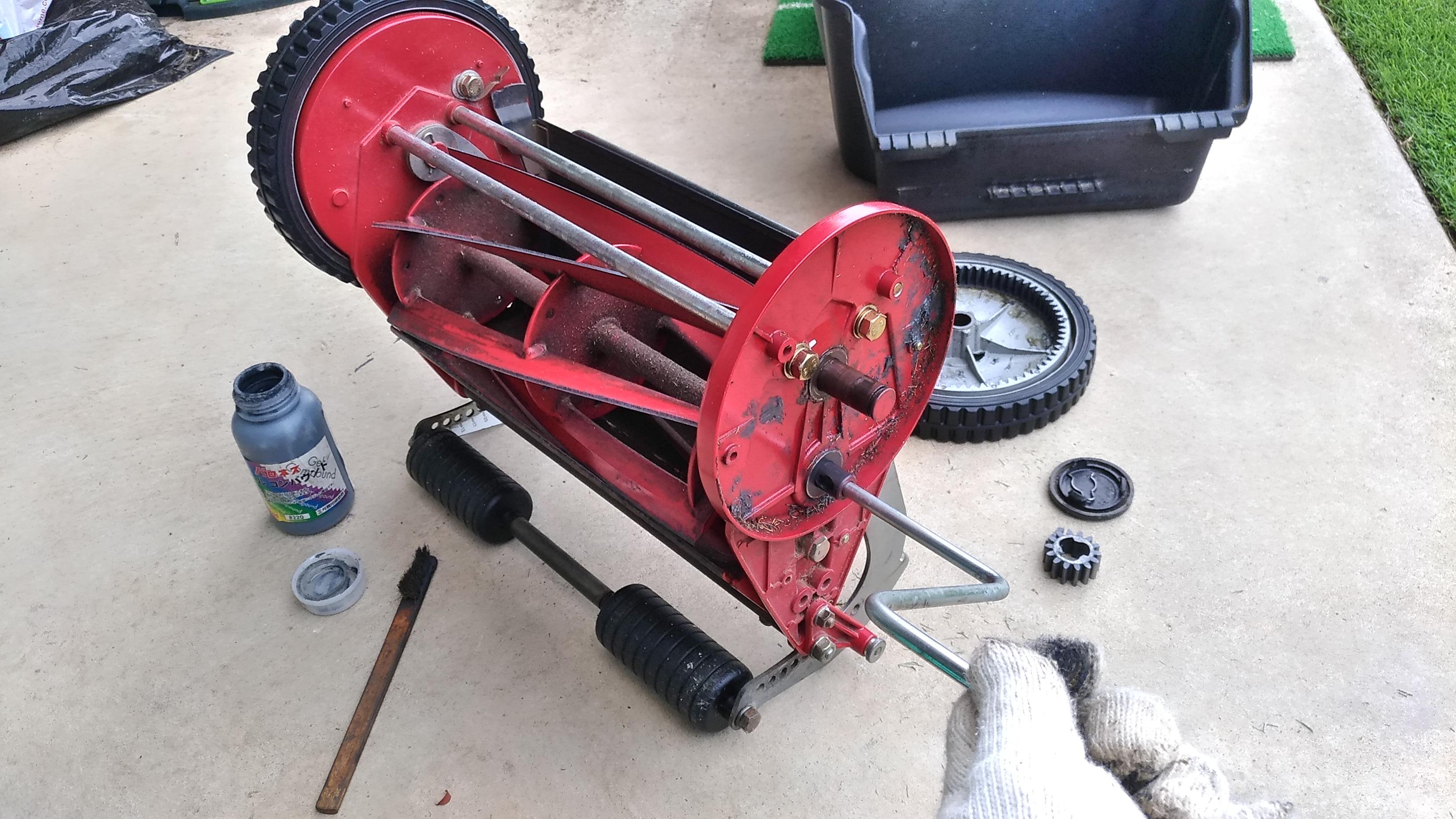 芝刈り機の簡易研磨の方法【バロネスLM4D】😄✨