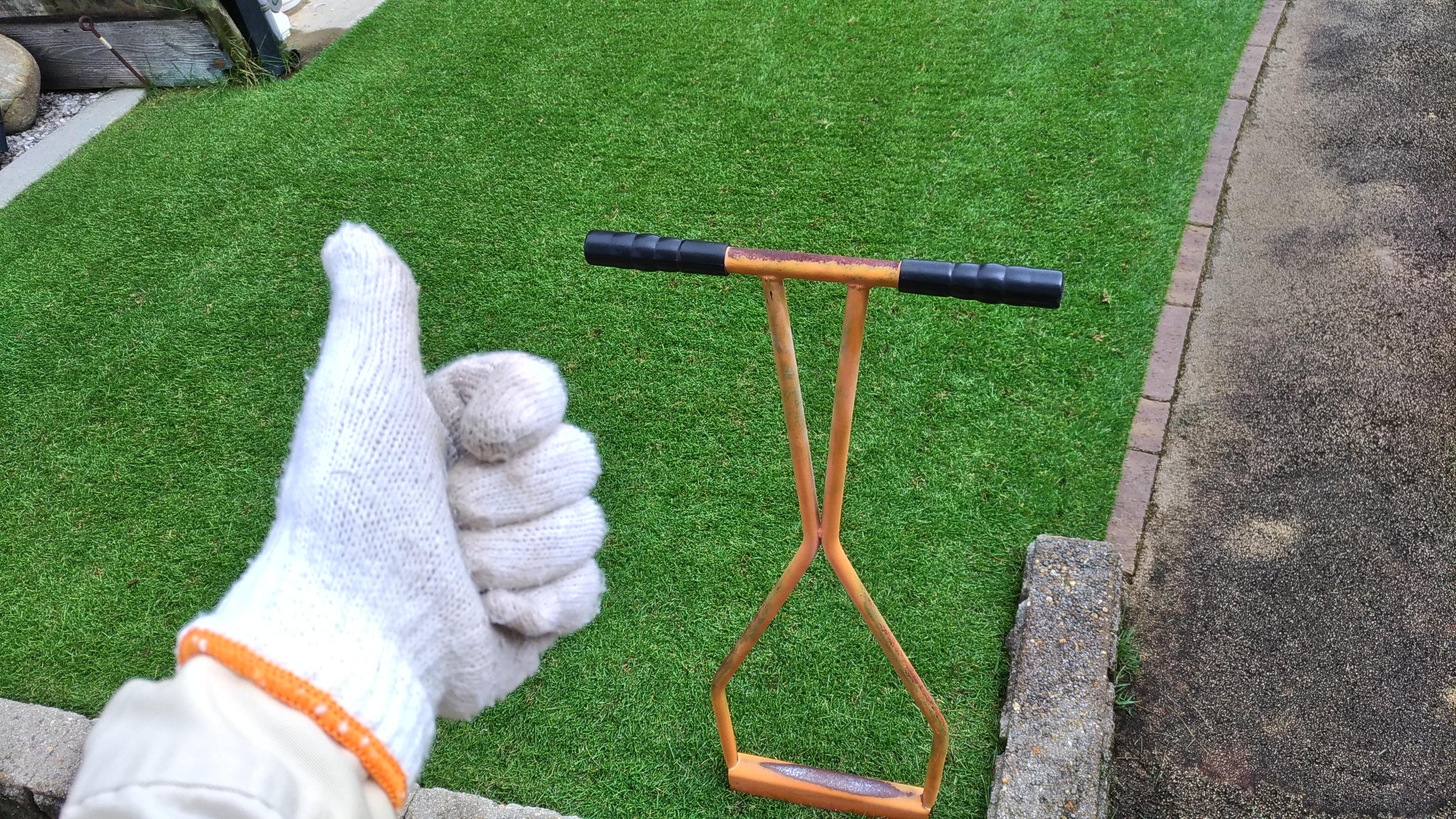 芝生エアレーションを時間短縮する方法😃✨